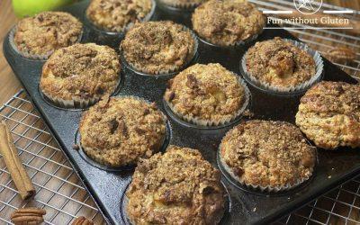 Gluten-Free Cinnamon Apple & Pecan Muffins