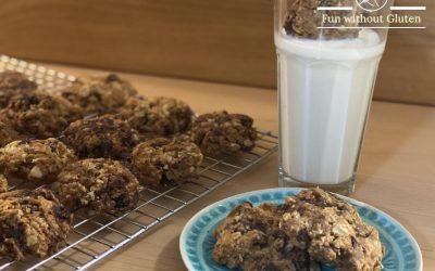 Gluten-Free Chocolate Chip, Oatmeal & Raisin Cookies