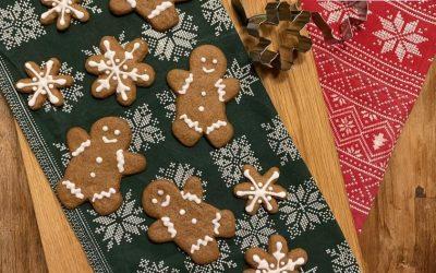 Gluten-Free Gingerbread Christmas Cookies