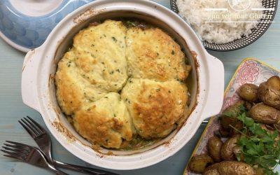 Chicken Casserole with Gluten-Free Parsley Dumplings
