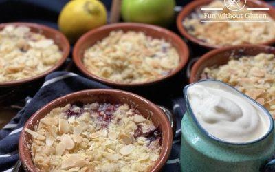Gluten-Free Apple & Blueberry Crumble
