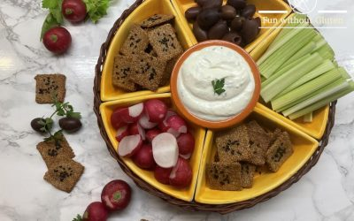 Gluten-Free Crackers with Feta Ricotta Dip