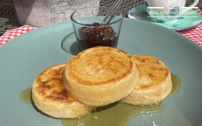 Gluten-Free Crumpets with Honey Butter