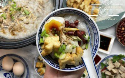 Chicken Congee with Gluten-Free Chinese Doughnuts