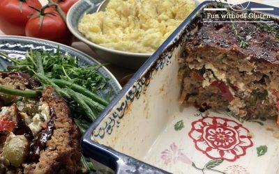 Gluten-Free Meatloaf with Cauliflower Potato Mash