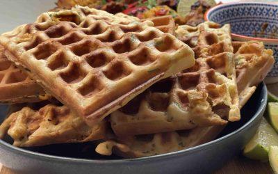 Gluten-Free Corn & Cheese Waffles