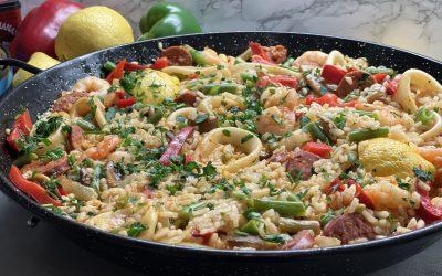 PAELLA with Seafood & Spanish Chorizo