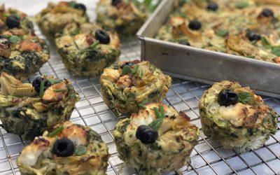 Gluten-Free Zucchini & Feta Muffins or Slice