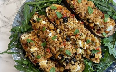 Mediterranean Stuffed Eggplants